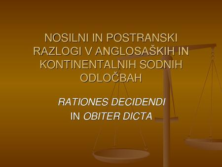 RATIONES DECIDENDI IN OBITER DICTA